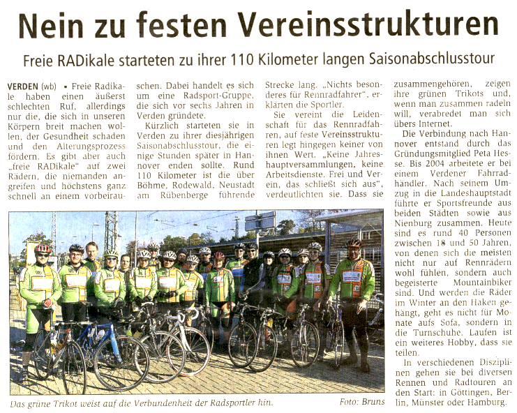 Artikel aus der Verdener Zeitung vom 15.10.2010